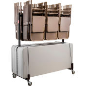 Interion® Chair and Table Cart - Double Tier - Holds 42 Chairs and 8-10 Tables
