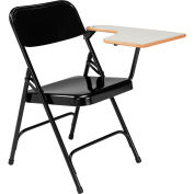 National Public Seating Tablet Arm Folding Chair - Left Arm - Black - Pack of 2