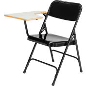 National Public Seating Tablet Arm Folding Chair - Right Arm - Black - Pack of 2