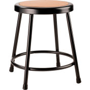 """Interion® 18"""" Steel Work Stool with Hardboard Seat - Backless - Black - Pack of 2"""