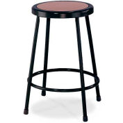 """Interion® 24""""H Steel Work Stool with Hardboard Seat - Backless - Black - Pack of 2"""