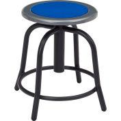 Stool de hauteur réglable de sièges publics nationaux - Siège bleu persan - cadre noir - Série 6800
