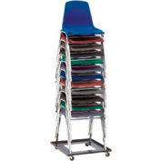 Interion® Dolly universelle pour les chaises empilantes - 10 chaises Capacité