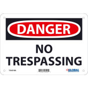 Global Industrial™ Danger No Trespassing, 7x10, Aluminum