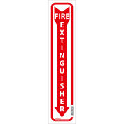 Global Industrial™ Fire Extinguisher Sign, 18x4, Pressure Sensitive Vinyl