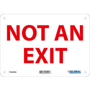 Global Industrial™ Not An Exit Sign, 10''W x 7''H, Aluminum