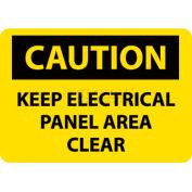 """NMC C167P OSHA signe, garder l'attention panneau électrique espace clair, 10 """"X 7"""", jaune/noir"""