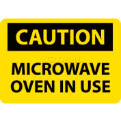 """NMC C180R signe de OSHA, attention le four à micro-ondes en cours d'utilisation, 7 """"X 10"""", jaune/noir"""