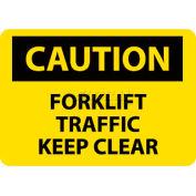 "NMC C356RB OSHA Sign, Caution Forklift Traffic Keep Clear, 10"" X 14"", Yellow/Black"