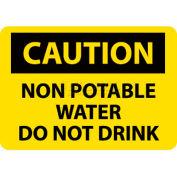 """NMC C361P signe de OSHA, eau Non Potable attention ne buvez pas, 7 """"X 10"""", jaune/noir"""