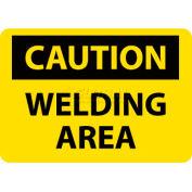 "NMC C362RB OSHA Sign, Caution Welding Area, 10"" X 14"", Yellow/Black"