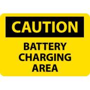 "NMC C97RB OSHA Sign, Caution Battery Charging Area, 10"" X 14"", Yellow/Black"
