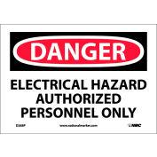 """NMC D268P OSHA signe, Danger Danger électrique autorisé uniquement à un Personnel, 7 """"X 10"""", blanc/rouge/noir"""