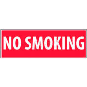 "NMC M11P No Smoking Area Sign, No Smoking, 4"" X 12"", White/Red"