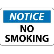 "NMC N166R OSHA Sign, Notice No Smoking, 7"" X 10"", White/Blue/Black"
