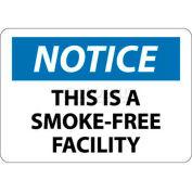 """NMC N172RB signe de OSHA, remarquez c'est un établissement sans fumée, 10 """"X 14"""", blanc/bleu/noir"""