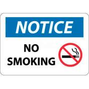 "NMC N314RB OSHA Sign, Notice No Smoking, 10"" X 14"", White/Blue/Black"
