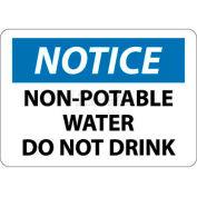 """NMC N321PB signe de OSHA, remarquez l'eau Non Potable ne pas boire, 10 """"X 14"""", blanc/bleu/noir"""