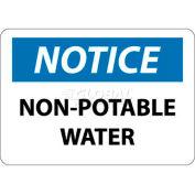 "Avis de NMC N322PB signe de OSHA, eau Non Potable, 10 ""X 14"", blanc/bleu/noir"