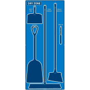 National Marker Dry Zone Shadow Board, Bleu/Bleu,68 X 30, ACP, Panneau composite d'aluminium - SB131ACP