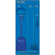 National Marker Dry Zone Shadow Board Combo Kit, Bleu/Noir,68 X 30, Panneau composite d'alun- SBK132ACP
