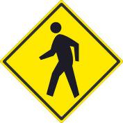 """NMC TM119J Traffic Sign - Pedestrian Crossing, Aluminum, 24"""" x 24"""""""