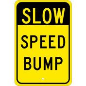 "NMC TM157J Traffic Sign - Slow Speed Bump, Aluminum, 18"" x 12"""