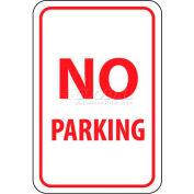 """Panneau de signalisation de TM1G NMC, aucun Parking, 18 """"X 12"""", blanc/rouge"""