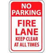 """NMC TM47G signe de la circulation, aucune voie de feu Parking garder clairement à tout moment, 18 """"X 12"""", blanc/rouge"""