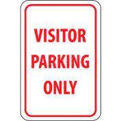 """NMC TM7G signe de la circulation, de stationnement seulement, 18 """"X 12"""", blanc/rouge de visiteur"""