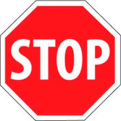"""NMC TM81H Traffic Sign, Stop Sign, 30"""" X 30"""", White/Red"""