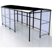 "No Butts 4-Sided Smoking Shelter SR1564-F-BLK - Freestanding - 17'2""W x 7'D x 7'11""H Aluminum Roof"