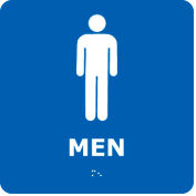 Graphic Braille Sign - Men - Blue