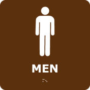Graphic Braille Sign - Men - Brown