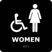 Graphic Braille Sign - Women - Black