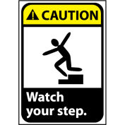 Caution Sign 14x10 Rigid Plastic - Watch Your Step