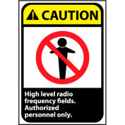 Attention signe 14 x 10 vinyle - haut niveau de fréquence Radio