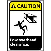 Attention signe 14 x 10 en aluminium - faible hauteur libre