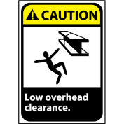 Attention signe 14 x 10 vinyle - faible hauteur libre