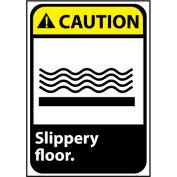 Caution Sign 14x10 Vinyl - Slippery Floor