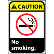 Caution Sign 10x7 Vinyl - No Smoking
