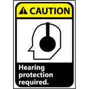 Caution Sign 14x10 Aluminum - Hearing Protection Required