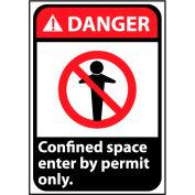 Danger Sign 14x10 Vinyl - Confined Space