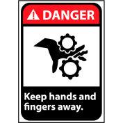 Danger Sign 14x10 Aluminum - Keep Hands and Fingers Away