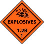 DOT Placard - Explosives 1.2B 1