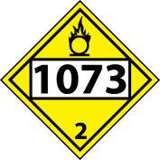 DOT Placard - Four Digit 1073 3