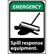 Emergency Sign 10x7 Vinyl - Spill Response Equipment