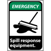 Emergency Sign 10x7 Rigid Plastic - Spill Response Equipment