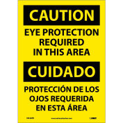 Bilingual Vinyl Sign - Caution Eye Protection Required In This Area