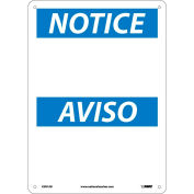 Bilingual Aluminum Sign - Notice Blank